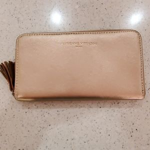 COPY - Rose Gold Metallic Zip Around Wallet